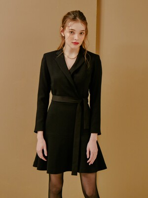 TAILORED FLARE ONEPIECE_BLACK