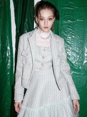Luna Tweed Jacket [mint]
