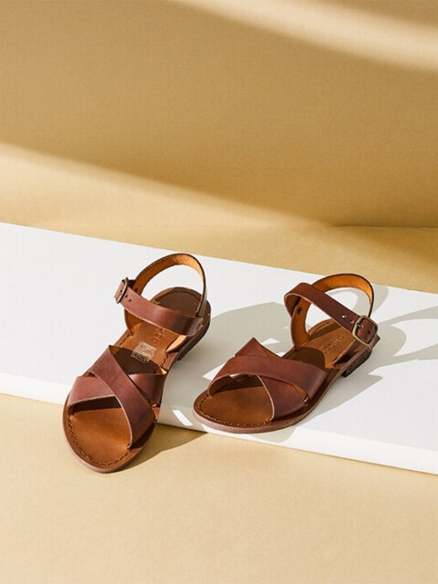 ANKLE STRAP SANDAL_NATURAL BONE