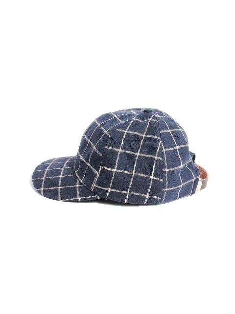 MODERN CHECK BALL CAP - NAVY
