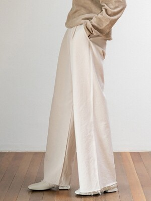 wide pants (cream)