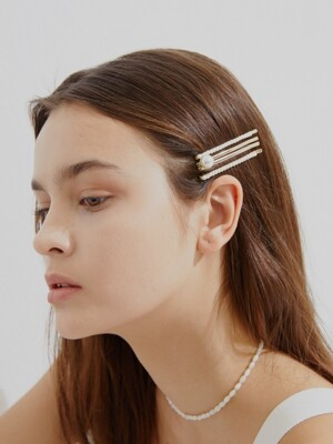 [단독] [4 SET] Pearl Layered Hair Pin