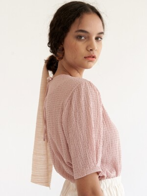 Embo Puff Blouse - Pink