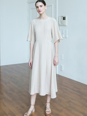 Bell silhouette Dress - Beige