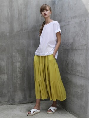 Emma shirring skirt_Yellow