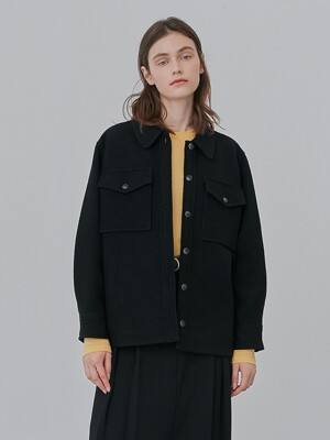 A WOOL SHIRT JK_BLACK