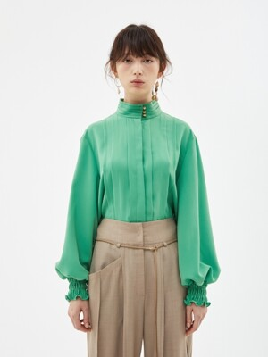 KATIE TUCK BLOUSE atb274w(GREEN)