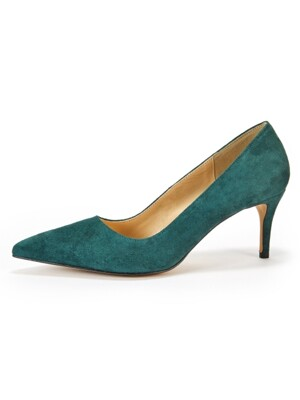 Briana Stiletto_Deep Green Suede
