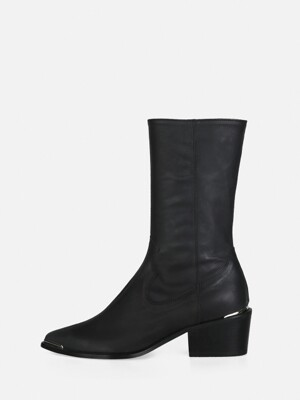 POINTED WESTERN BOOTS - BLACK