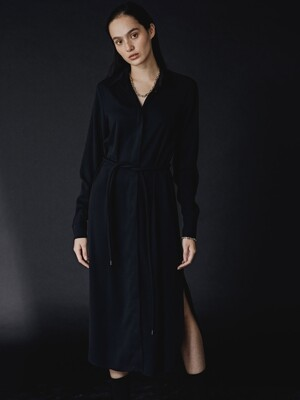 BLACK KARI PERFECT SHIRT DRESS