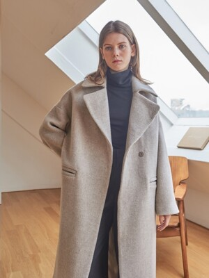 LAMBSWOOL DOUBLE COAT [OATMEAL]
