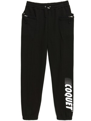 665g STRING SWEAT JOGGER PANTS BLACK