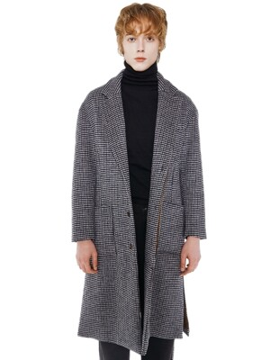Side Vent Coat_Black Check