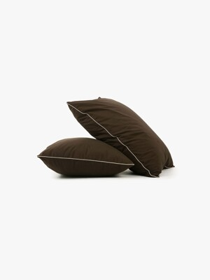cicci pillow case - brown/ivory