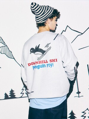 DOWNHILL SKI, PENGUIN FLY SWEAT (1% MELANGE)