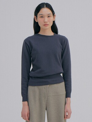 Unbalanced Cashmere Top_Charcoal