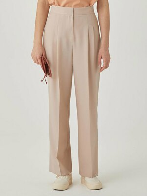 Wide-leg Trousers [PINKISH BEIGE] JYPA1B901I2