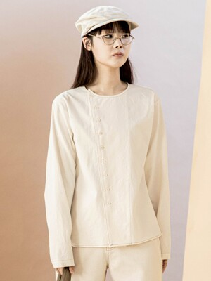 Double Line Natural Blouse