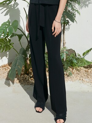 OU634 loosy long slacks (deep navy)