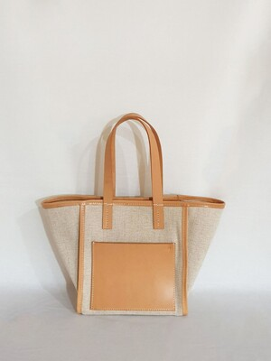 Daily  Tote Bag  |  Leather & Canvas