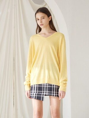 18 ss day v neck knit yellow