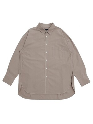UNISEX SIDE VENT STITCH SHIRTS BEIGE