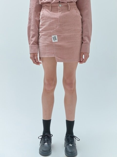 TAG POINT SKIRTS_corduroy pink