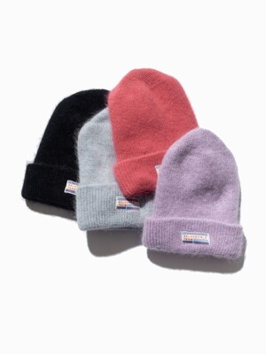 ANGORA BEANIE [PURPLE/PINK/GREY/BLACK]