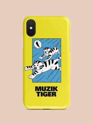 Running Tiger Yellow Phone Case