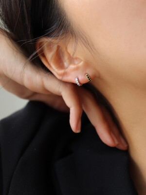 1+1 Mini cubic one-touch earring