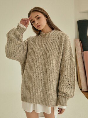 cookie round wool knit[oatmeal]