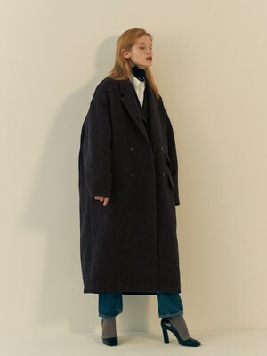 DANSE OVERSIZED COAT- BROWN HERRINGBORN