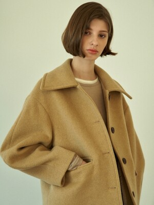 balloon half coat (beige)