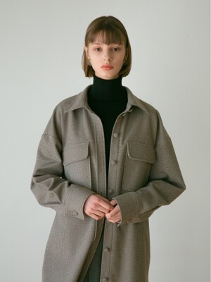 WOOLTOUCH LONG JACKET BROWN