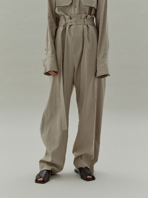 20SS HIGH WAIST PANTS - LIGHT BEIGE