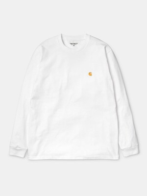 L/S CHASE T-SHIRT_WHITE/GOLD