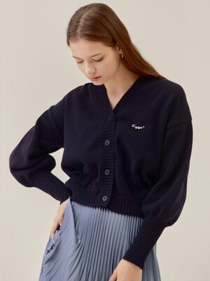 CASHMERE BACK DETAIL CARDIGAN_NAVY (EETZ3CDR01W)