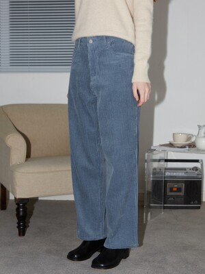 CORDUROY PANTS - ASH BLUE