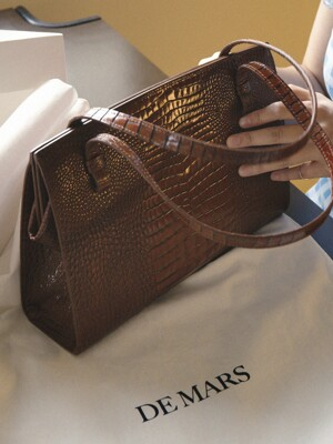 NOOS BAG CROCO BROWN