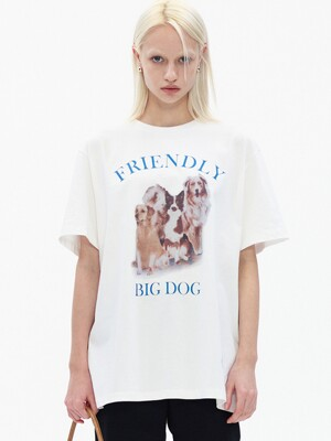 BIG DOG T-SHIRT, WHITE