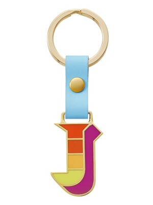 [usual M.E]Stickery initial key ring
