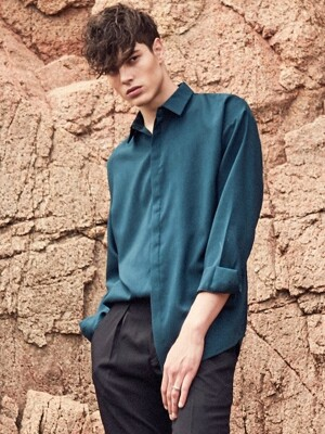 SLEEVE HIDDEN SHIRTS_GREEN