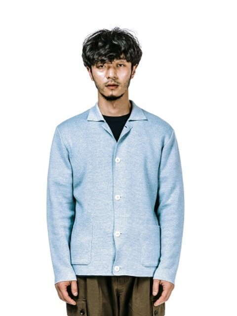 KNIT JACKET (SKY BLUE)