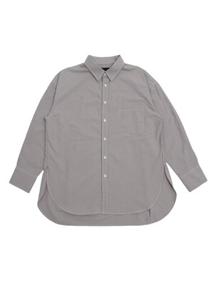 UNISEX SIDE VENT STITCH SHIRTS GRAY