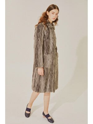 Faux fur coat(Grey)