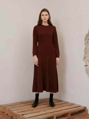 ROUND NECK KNIT OP_BURGUNDY