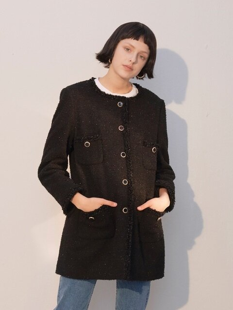 Black Tweed Coat