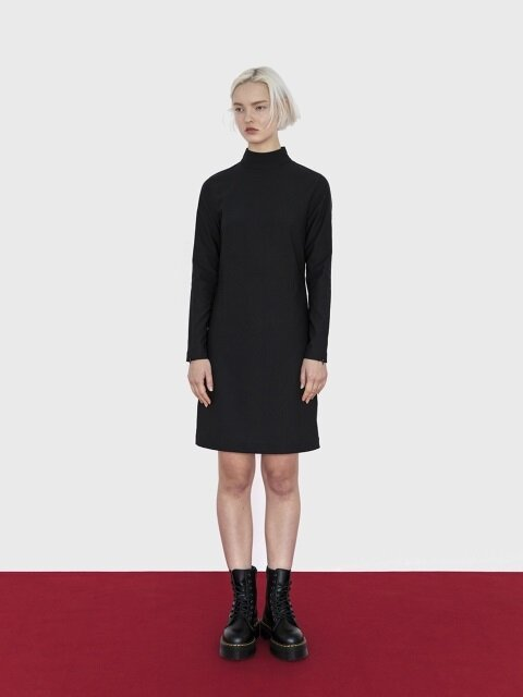 18AW ZIPPER DETAIL DRESS (BLACK)