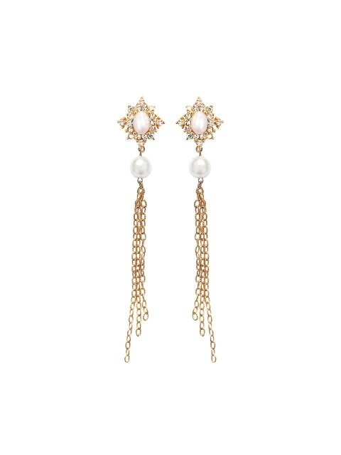 Royalmatic Chain Earrings-Gold