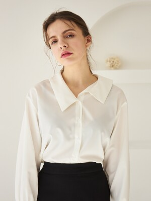 COLLAR POINT SHIRT WHITE